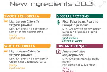 2021 : New healthy ingredients
