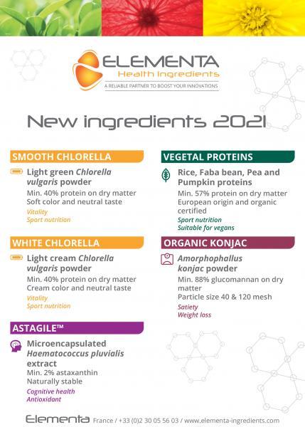 2021 : New healthy ingredients