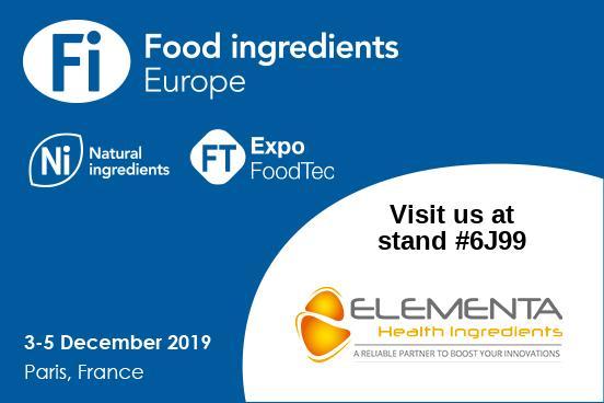 FI Europe & Ni 2019 : ELEMENTA présente ses nouveaux ingrédients naturels