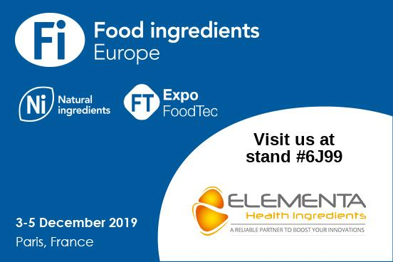 FI Europe & Ni 2019 : ELEMENTA presents new natural ingredients