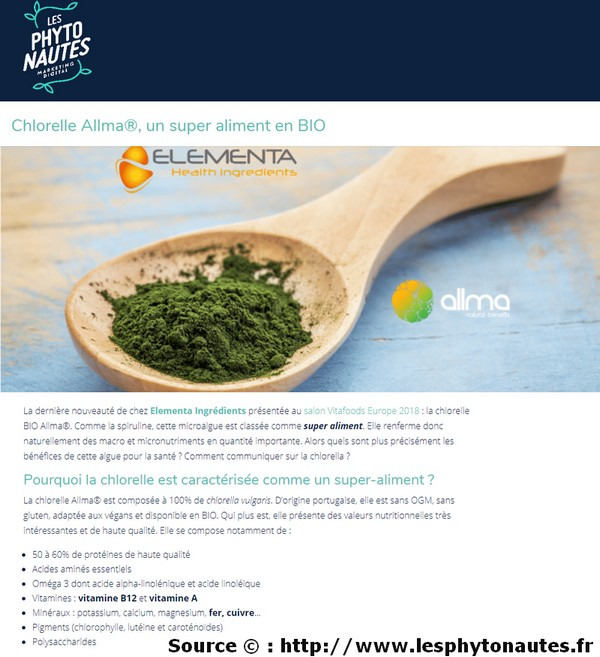 chlorelle bio superaliment